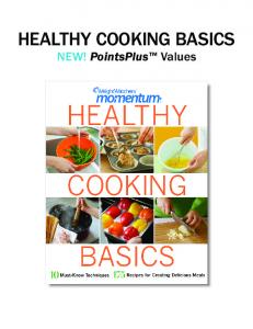 hEalthy cookiNg basics - Weight Watchers