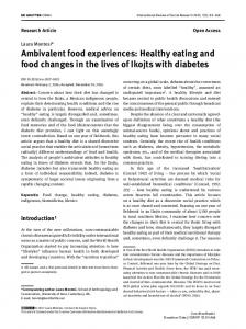 Healthy eating and food changes in the lives of Ikojts
