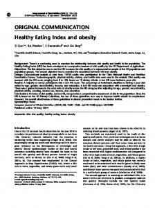 Healthy Eating Index and obesity