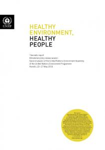 healthy environment, healthy people - UNEP Document Repository ...