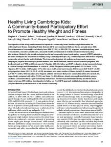 Healthy Living Cambridge Kids: A ... - Wiley Online Library