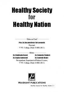 Healthy Society Healthy Nation