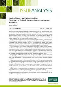 Healthy Stores, Healthy Communities - The Centre for Independent ...