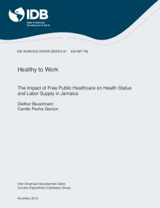 Healthy to Work - IDB - Publications - Inter-American Development Bank