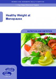 Healthy Weight at Menopause