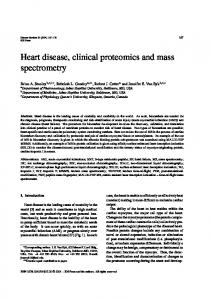 Heart disease, clinical proteomics and mass
