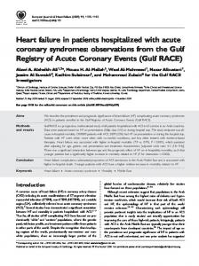 Heart failure in patients hospitalized with acute ... - Wiley Online Library