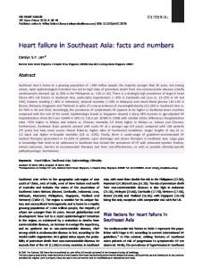 Heart failure in Southeast Asia - Wiley Online Library