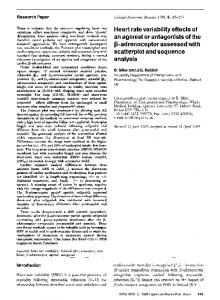 Heart rate variability effects of an agonist or ... - Springer Link
