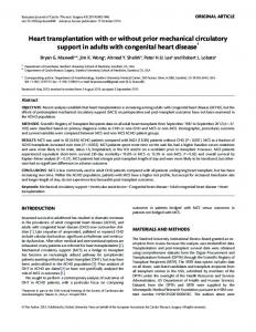 Heart transplantation with or without prior ... - Semantic Scholar