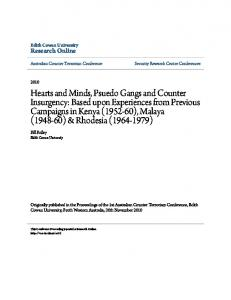 Hearts and Minds, Psuedo Gangs and Counter Insurgency: Based ...