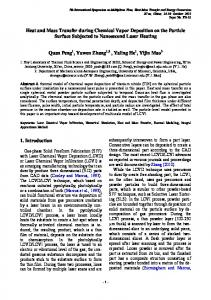 Heat and Mass Transfer during Chemical Vapor Deposition on ... - arXiv