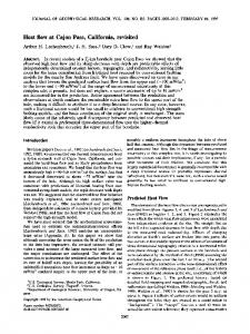 Heat flow at Cajon Pass, California, revisited - Wiley Online Library