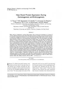 Heat Shock Protein Expression During