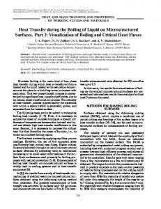 Heat Transfer during the Boiling of Liquid on ... - Springer Link
