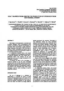 heat transfer problems for the production of hydrogen from geothermal ...