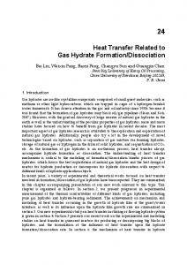 Heat Transfer Related to Gas Hydrate Formation