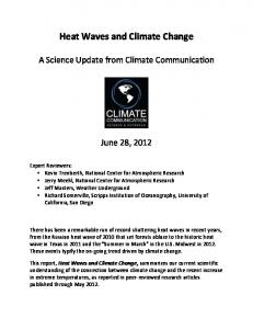 Heat Waves and Climate Change - Climate Communication