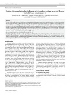 Heating effects on physicochemical characteristics and ... - SciELO