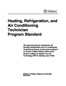 Heating, Refrigeration, and Air Conditioning Technician Program ...