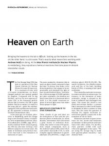Heaven on Earth - Max-Planck-Gesellschaft