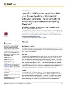 Heavy Alcohol Consumption with Alcoholic Liver ... - Semantic Scholar