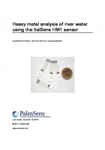 Heavy metal analysis of river water using the ItalSens ... - PalmSens