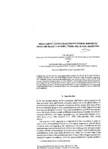 heavy metal concentrations in litteral sediments from ...