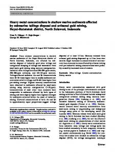 Heavy metal concentrations in shallow marine sediments affected by ...