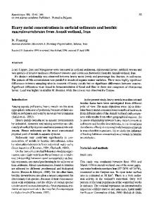 Heavy metal concentrations in surficial sediments and ... - Springer Link