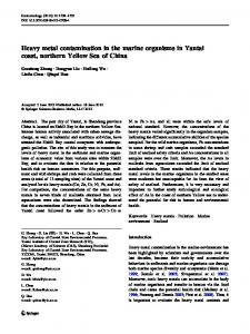 Heavy metal contamination in the marine organisms in ... - Springer Link