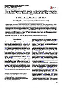 Heavy Metal Leaching, CO2 Uptake and Mechanical ... - Springer Link