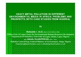 HEAVY METAL POLLUTION IN DIFFERENT ENVIRONMENTAL MEDIA IN AFRICA ...