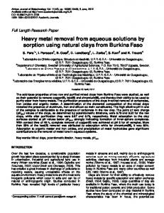 Heavy metal removal from aqueous solutions by ... - Academic Journals