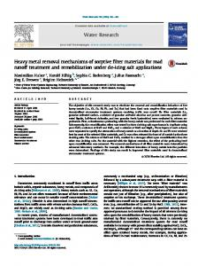 Heavy metal removal mechanisms of sorptive filter ...