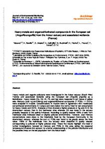 Heavy metals and organochlorinated compounds in the European eel ...
