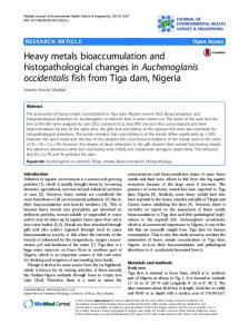 Heavy metals bioaccumulation and histopathological changes in ...