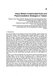 Heavy Metals Contaminated Soils and ...