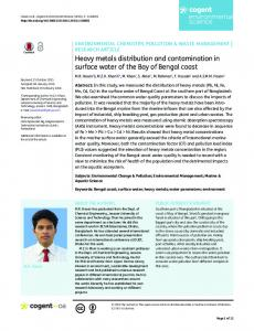 Heavy metals distribution and contamination in ...