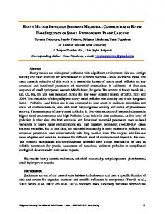 heavy metals impact on sediment microbial communities in riverdam ...