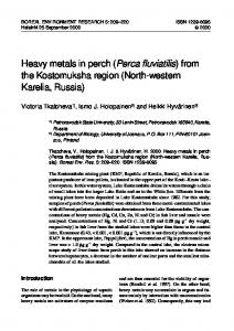 Heavy metals in perch - Boreal Environment Research