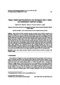 Heavy metals leaching behavior and ecological risks ...