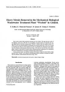 Heavy Metals Removal in the Mechanical-Biological Wastewater ...