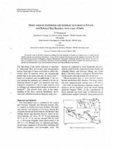 Heavy mineral distribution and sediment movement at ...