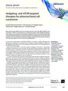 Hedgehog- & mTOR-targeted therapies for ... - Future Medicine