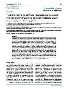 Hedgehog signaling pathway regulates ovarian ... - Journal of Cancer