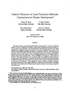 Hedonic Valuation of Land Protection Methods