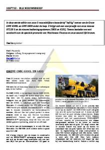 HEF'TIG – BLE NIEUWSBRIEF - BLE Lifting Equipment