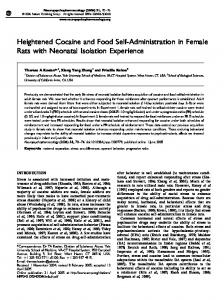 Heightened Cocaine and Food Self-Administration in Female ... - Nature