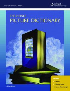 Heinle Picture Dictionary Test Drive Brochure